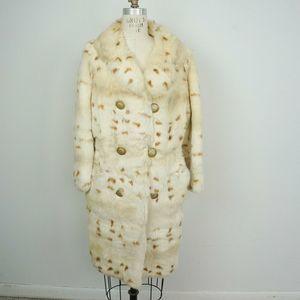 Vintage 60s/70s Rabbit Fur Spotted Coat Jacket